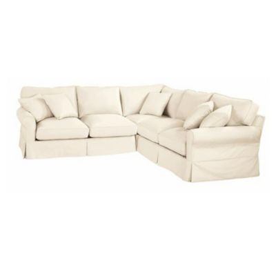 Baldwin 3 Piece Corner Loveseat Sectional Slipcover Special Order Fabrics Ballard Designs Sectional Slipcover Love Seat Slipcovers