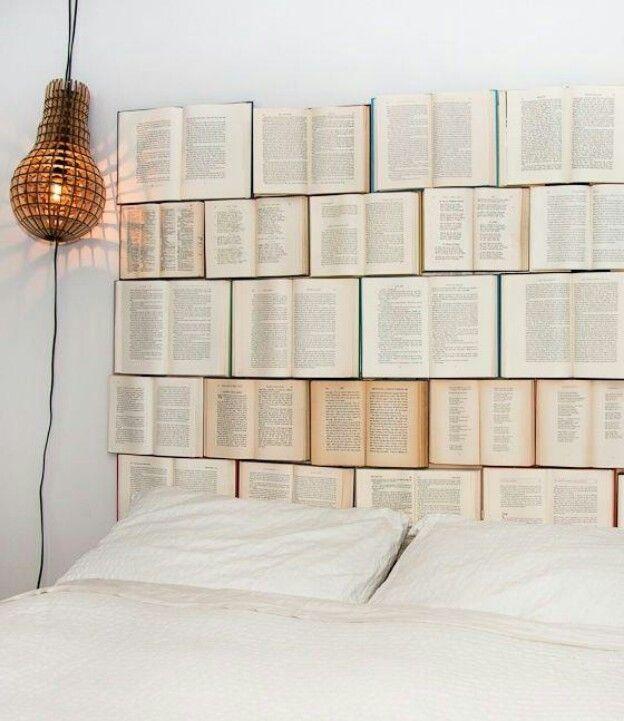 Books headboard | Book headboard, Creative headboard, Diy ...