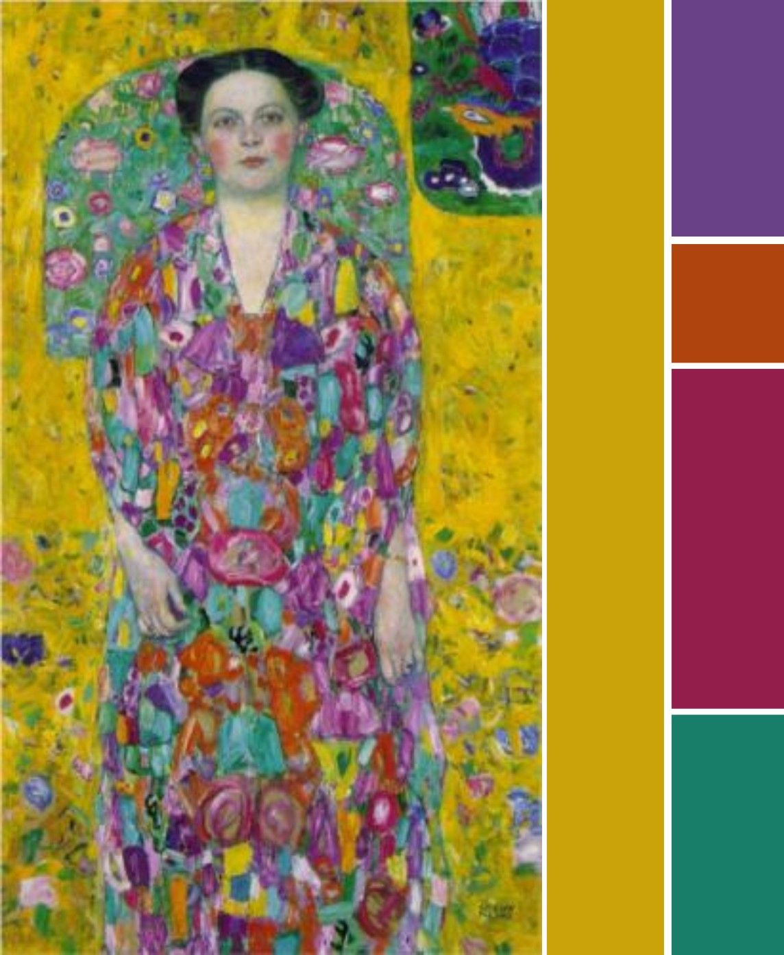 Gustav Klimt Portrait Of Eugenia Primavesi 1913 Color