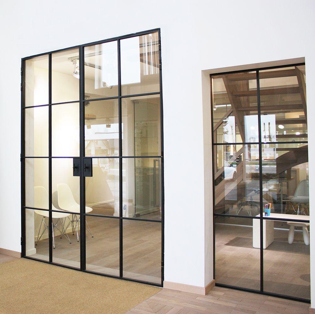 Smeedijzeren deur interior pinterest startup office for Office doors with windows