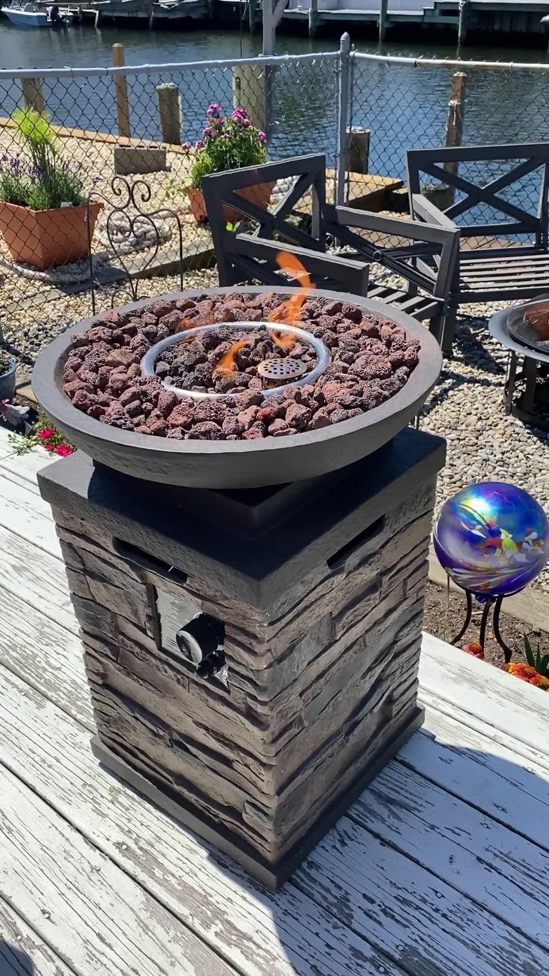 Belham Living Coronado Propane Fire Bowl With Free Cover Hayneedle Propane Fire Bowl Fire Bowls Gas Firepit
