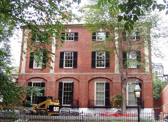 """Murder on Black Friday: """"The Bassett home, one of the few freestanding townhouses on Beacon Hill, was an imposing redbrick edifice that had probably been built around the end of the last century."""" (This is the Otis House in Boston, designed by Charles Bullfinch and built in 1796.)"""