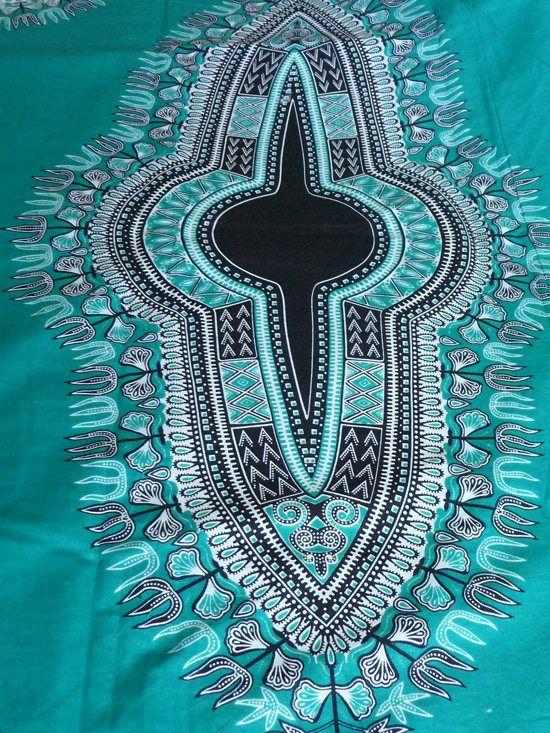 Dashki Fabric African Fashion Ankara Kitenge African: Dashiki 2 Panels/Orange Dashiki Fabric/ Dashiki Clothing