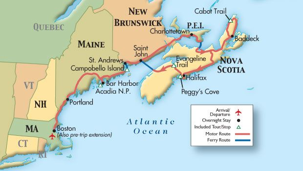 Map New England Canada Map of New England, Nova Scotia, Canadian Maritimes (2013