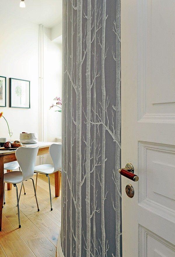 modern dining room with scandinavian wallpaper   40 Scandinavian Wallpaper Ideas Making Decorating a Breeze ...
