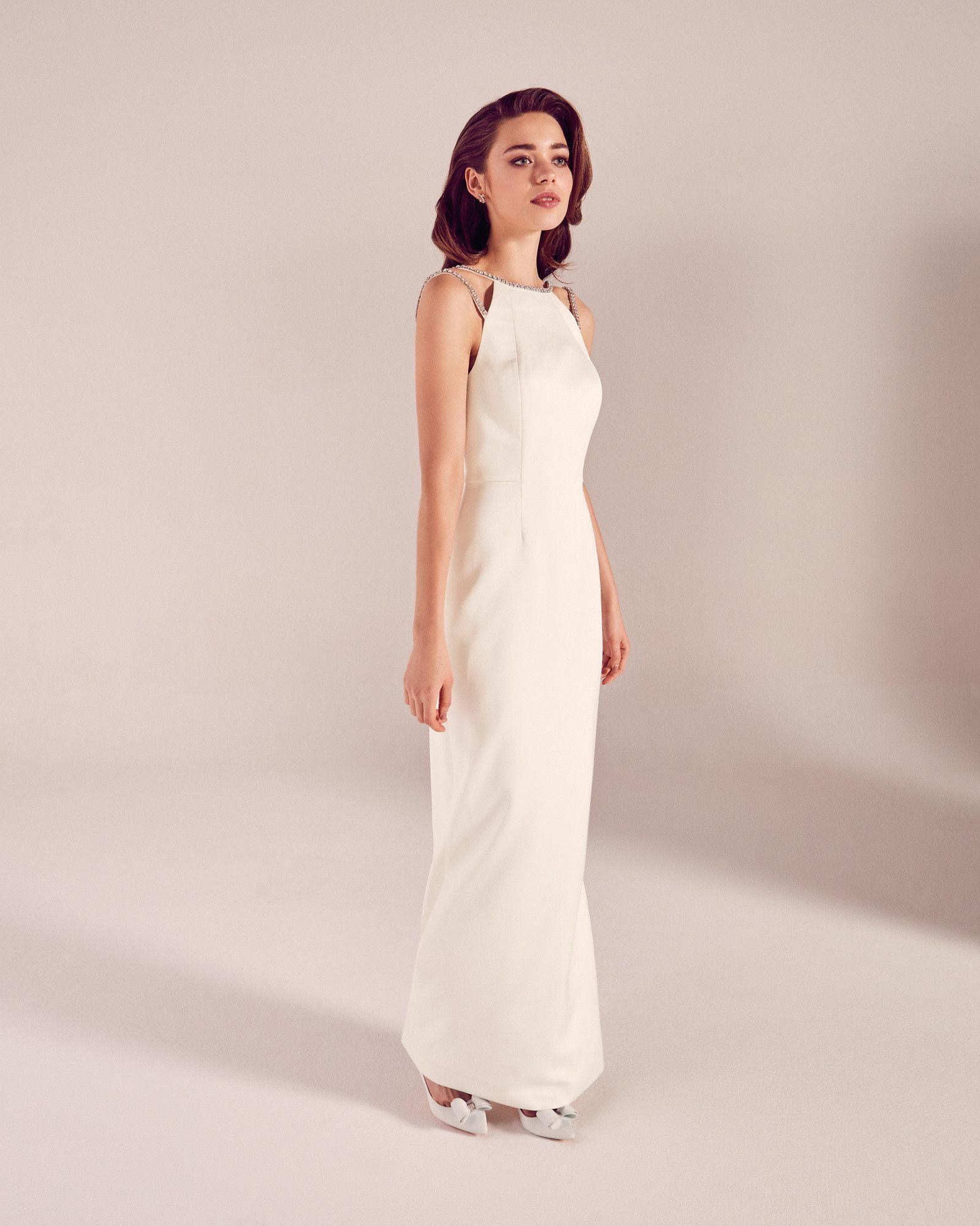 Brautkleid mit Zierborte - Weiß | FS17 Tie The Knot | Ted Baker DE ...