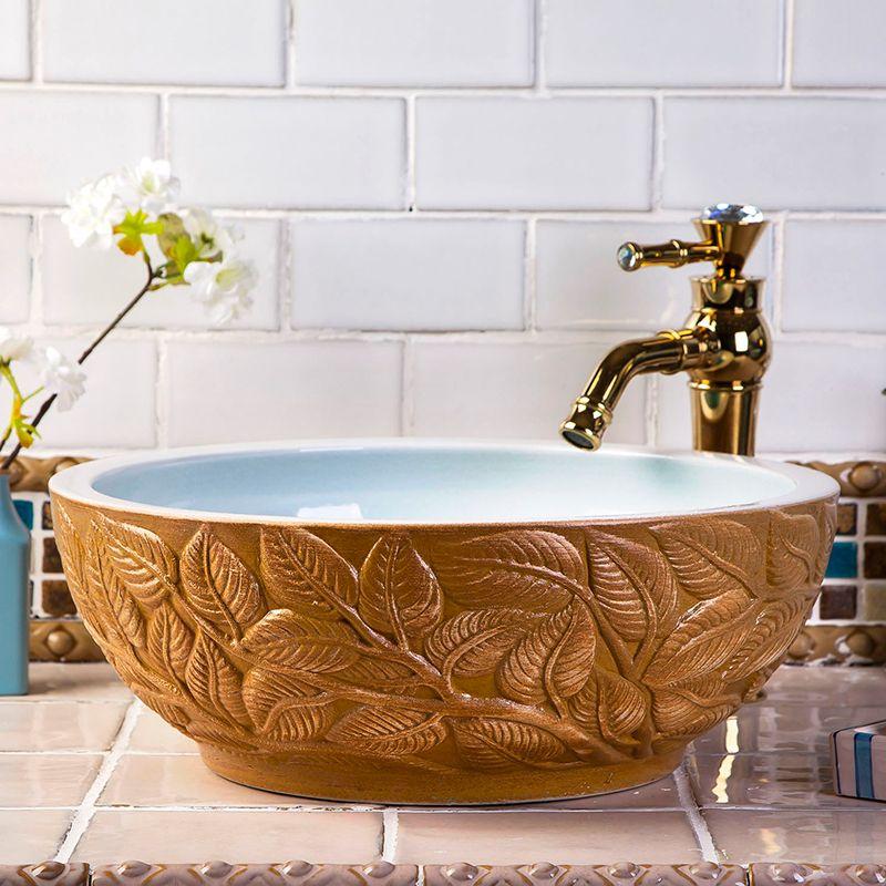 China Painting Kingfisher Lotus Ceramic Painting Round Washing