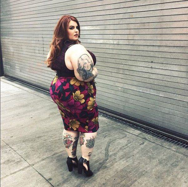 cfd5448595 Pin for Later  Tess Holliday s About to Launch the Fiercest Plus-Size  Clothing Line Ever A Floral Pencil Skirt