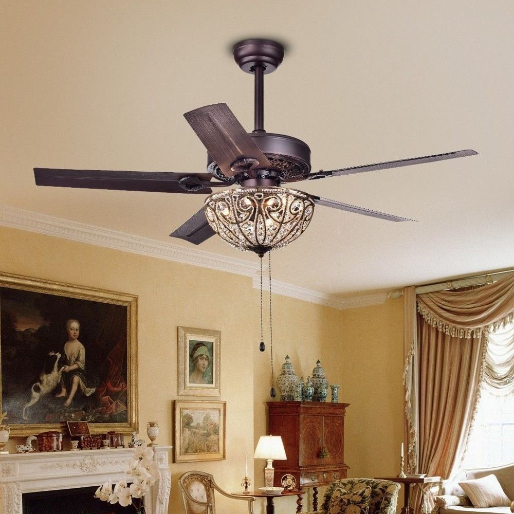 Catalina 3 light bronze finished 5 blade 48 inch crystal ceiling fan catalina 3 light bronze finished 5 blade 48 inch crystal ceiling fan new warehouseoftiffany aloadofball Images