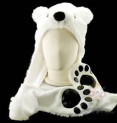polar bear head costume google search halloween pinterest