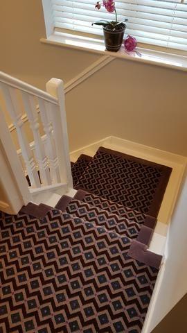 Best Axminster Carpets Funky Geometric Gorgeous Plum Stair 640 x 480