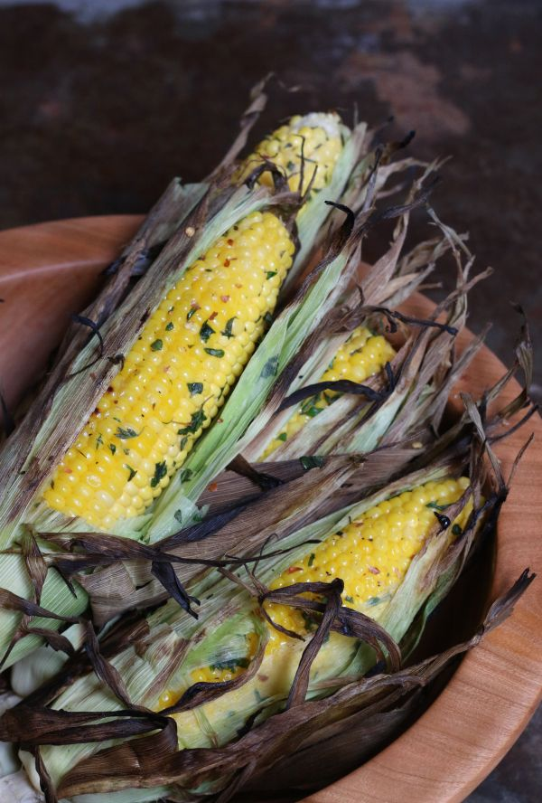 Herb Grilled Corn on the Cob