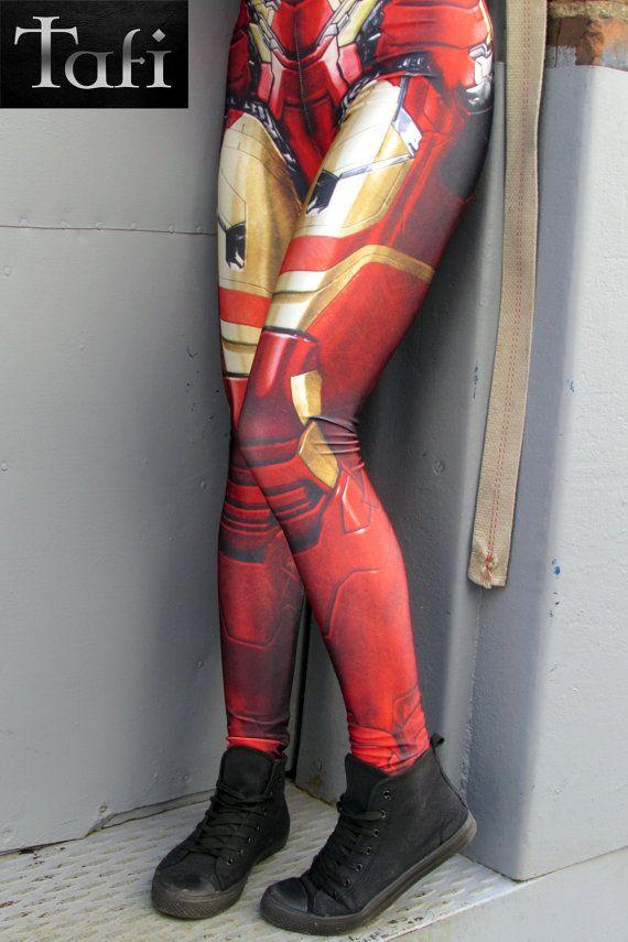 234e3122ef TAFI Iron Man Armor Leggings - Captain America Civil War Marvel Avengers  Pants Super Hero CosPlay Print