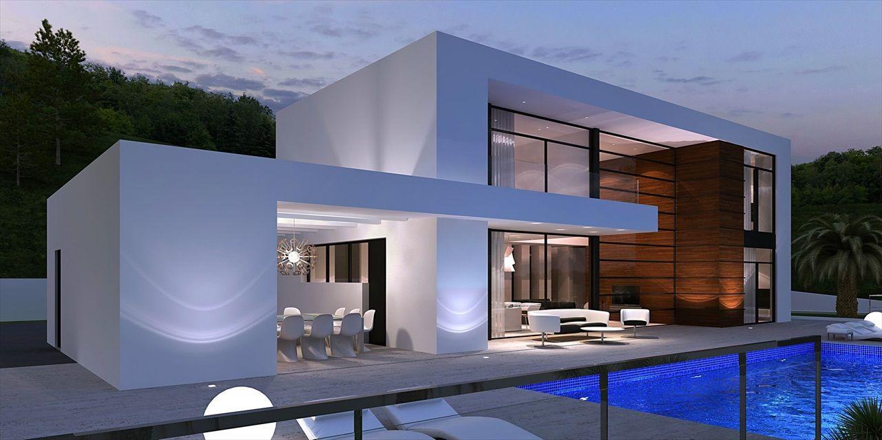 Bildergebnis f r overdekt terras modern interieur for Planos de chalets modernos