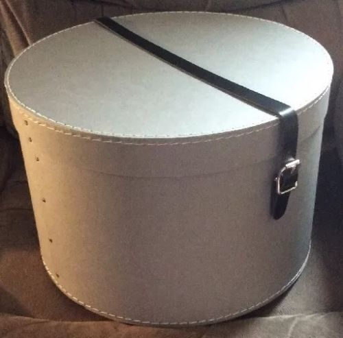 14-x-9-25-gris-moyen-hat-box-bnwt-ideal-pour-le-stockage-par-la-holding