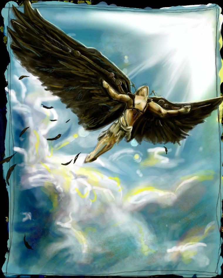 подборка летающий человек с крыльями картинки получило такую