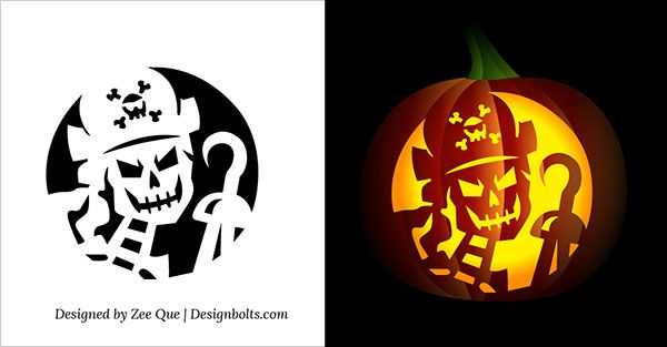 Free-printable-Skeleton-Scary-Halloween-Pumpkin-Carving-Stencils ...