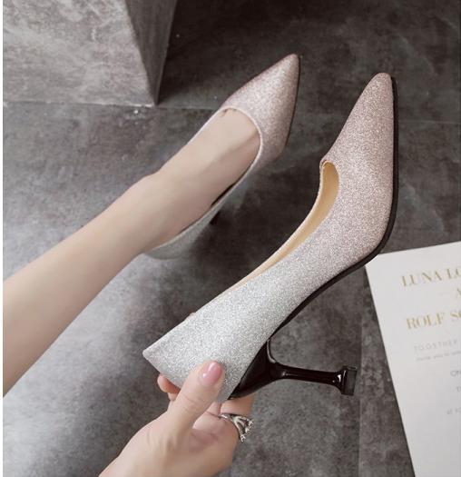 Sa018 Sepatu Heels Pesta Wanita 8cm Terbaru 2019 Sepatu Wanita