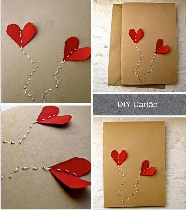 Cartão diy reciclagem
