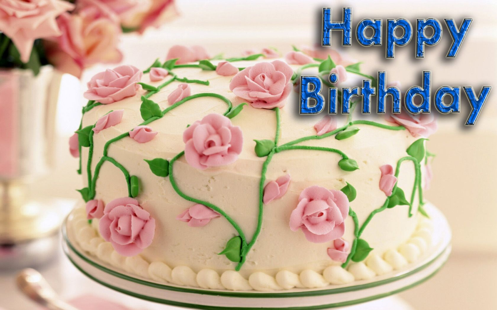 Happy Birthday Flowers Cake home greetings and wishes happy birthday