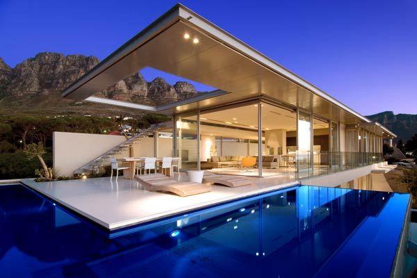 Modern Villa Rchtctr Pinterest Villas Modern And Cape Town - Minecraft schone holzhauser