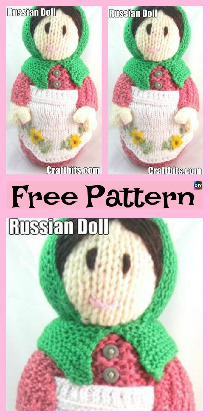 5 Adorable Knit Russian Dolls - Free Patterns | Crochet by groceries ...