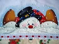 Resultado de imagen para risco para   pintura em tecido boneco de neve