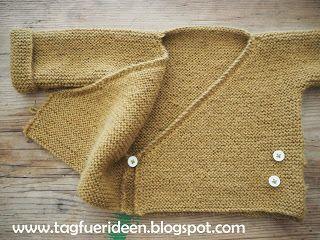 Baby-Wickeljacke noch eine Freebie-Strickanleitung - Tag für Ideen #crochetbabycardigan