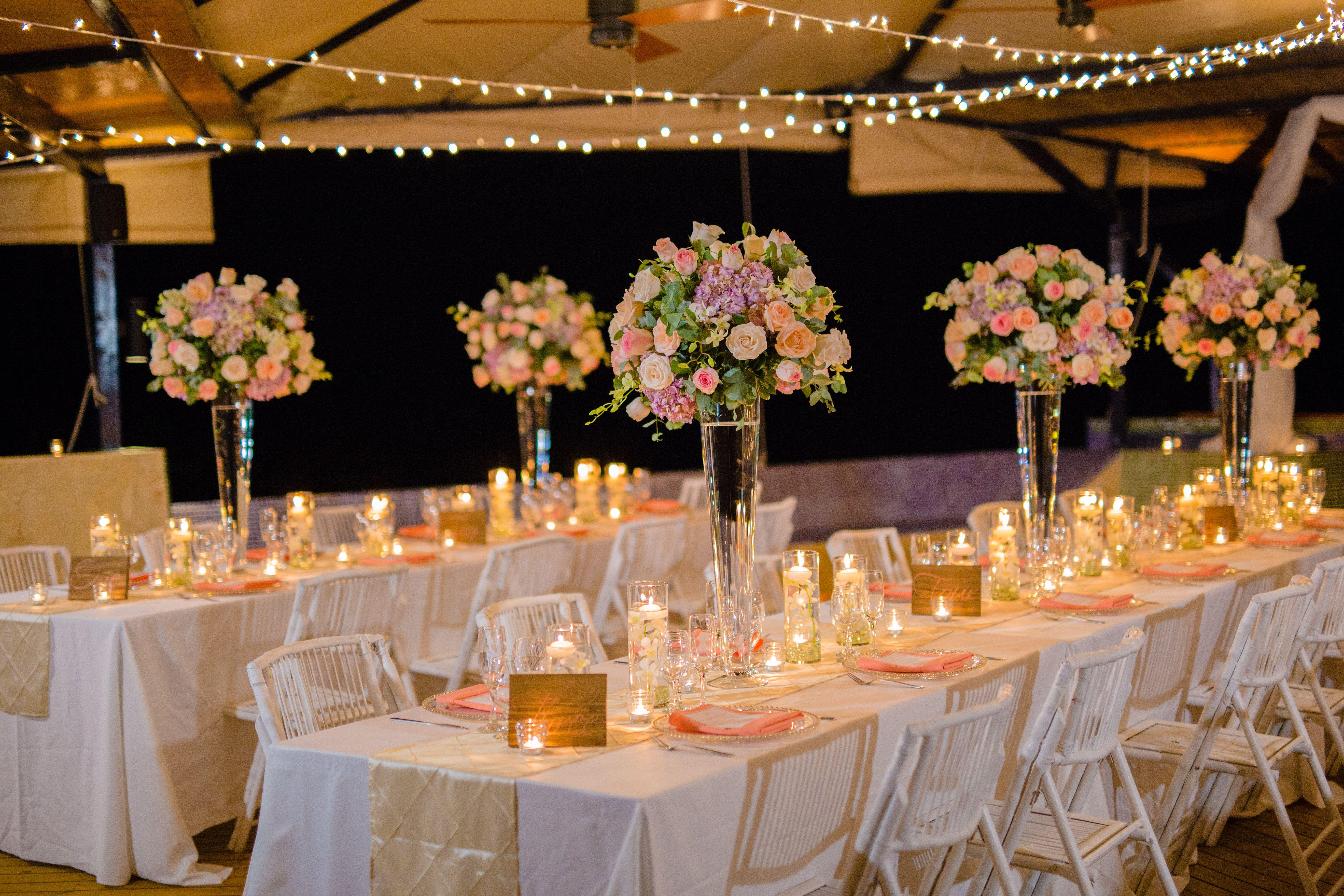 Pastel Colored Wedding Centerpieces Veenvendelbosch