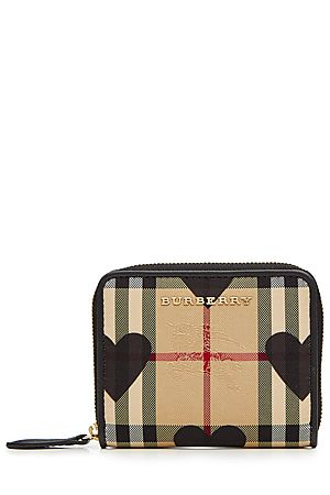 BURBERRY SHOES & ACCESSORIES  Checked Fabric Wallet with Leather | STYLEBOP.com