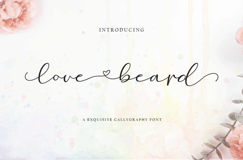 Love Beard Font | dafont.com in 2020 | Modern calligraphy ...  Love Calligraphy Font