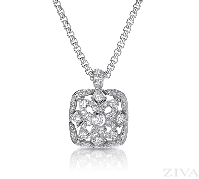 Vintage diamond pendant necklace 20th anniversary gift vintage diamond pendant necklace mozeypictures Image collections