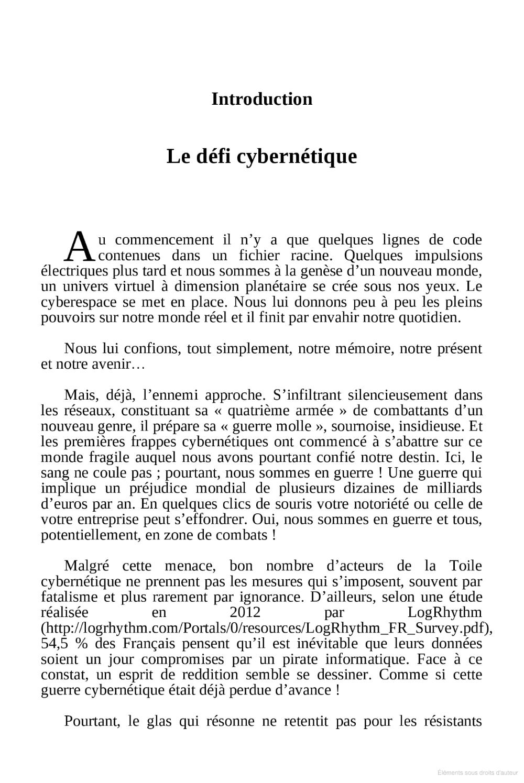 Menaces cybernétiques Le manuel du combattant Yves