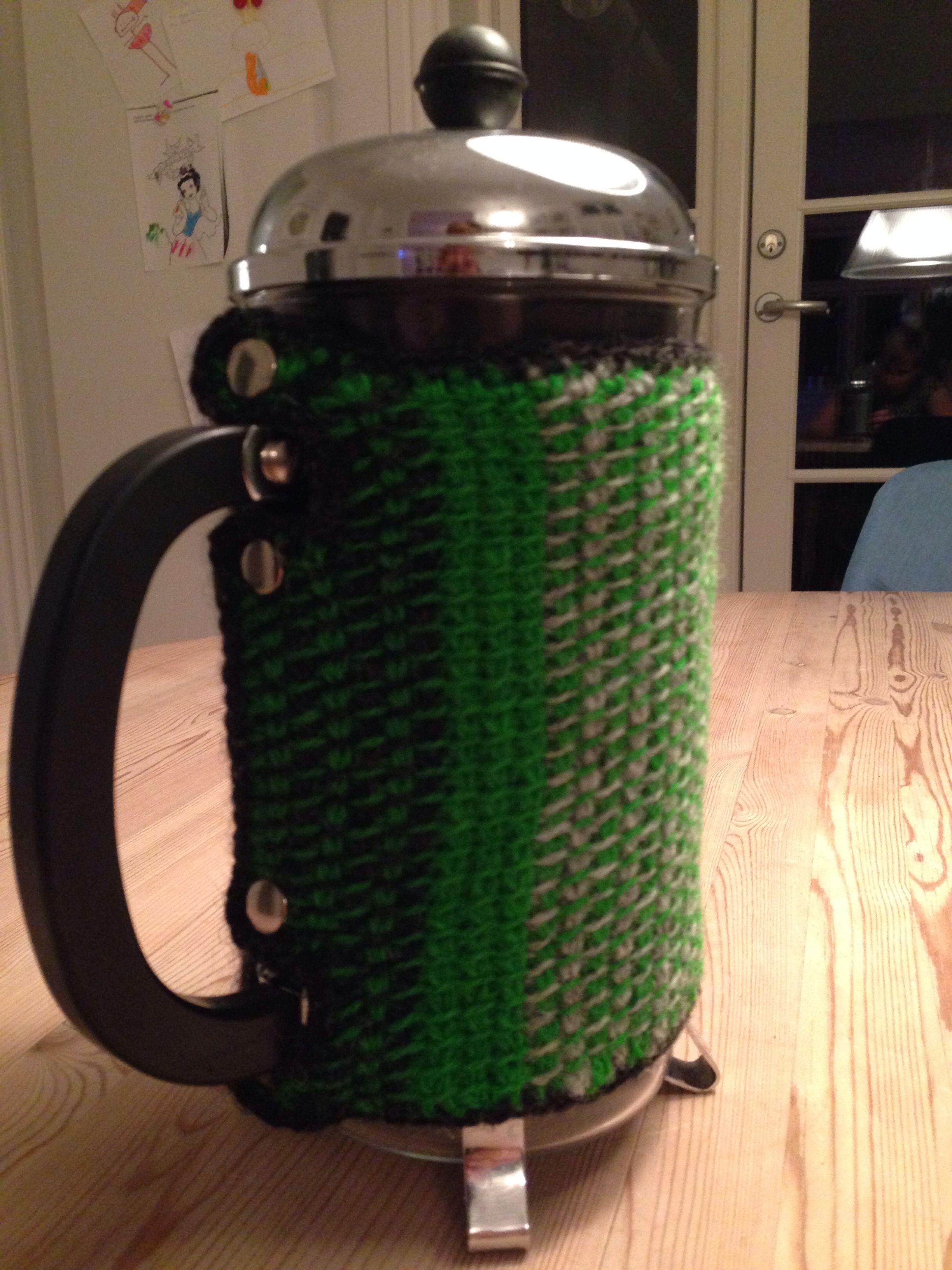 "Hakket ""varmer"" til stempelkande.  Tunesisk hækling/ Tunesian Crochet"