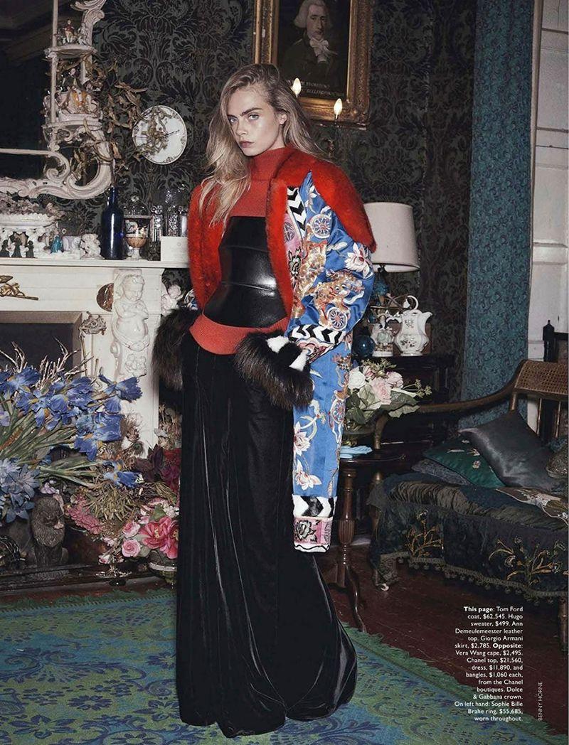 'Queen Cara' Cara Delevingne by Benny Horne for Vogue Australia October 2013 3