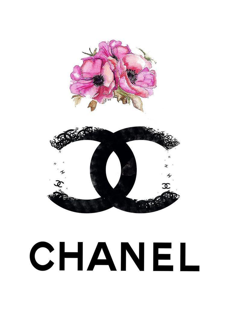 Chanel Wallpaper Chanel Wallpapers Chanel Art Print Chanel Wall Art