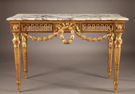 Louis XVI Console in Gilt Wood 1790