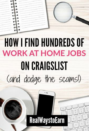 10 Tips For Researching Craigslist Work From Home Jobs Work From Home Jobs Earn Money Online Home Jobs