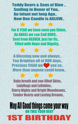 1st birthday poem