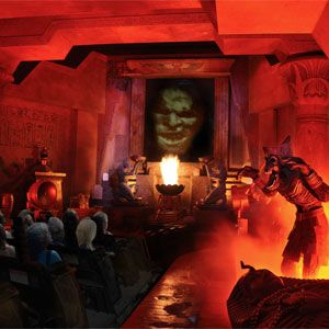 Universal Studios mummy roller coaster, hands down one of the best in the park!