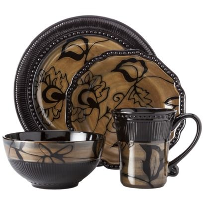 Expect More. Pay Less. Casual DinnerwareDinnerware SetsBrown ...  sc 1 st  Pinterest & Stencil Bead 16-pc. Dinnerware Set I want this so badly ...