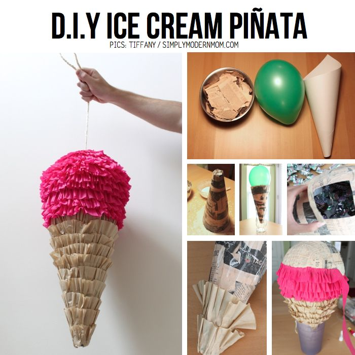 diy ice cream pinata im good with my hands pinterest