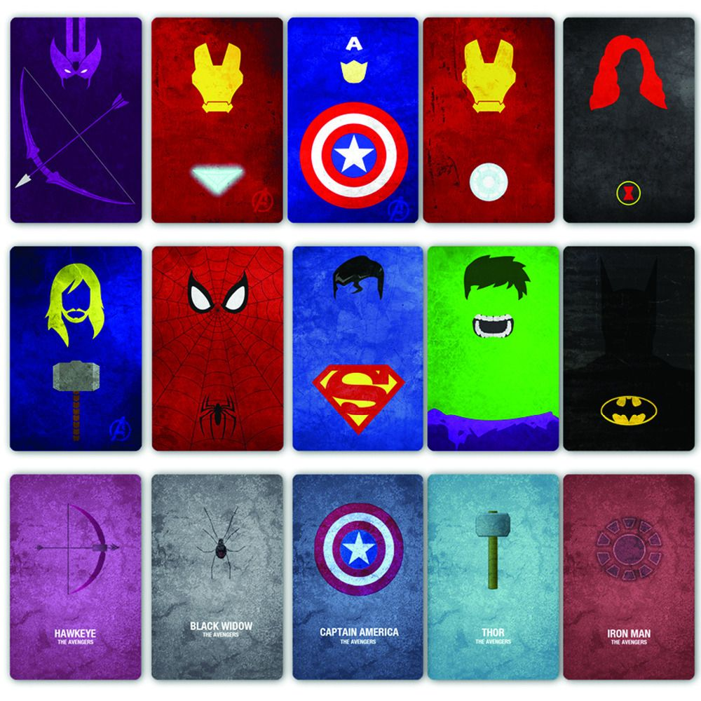 marvel character logos and