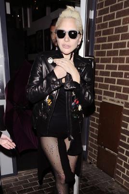 November 24th, 2015: Gaga leaving a recording studio in London, England