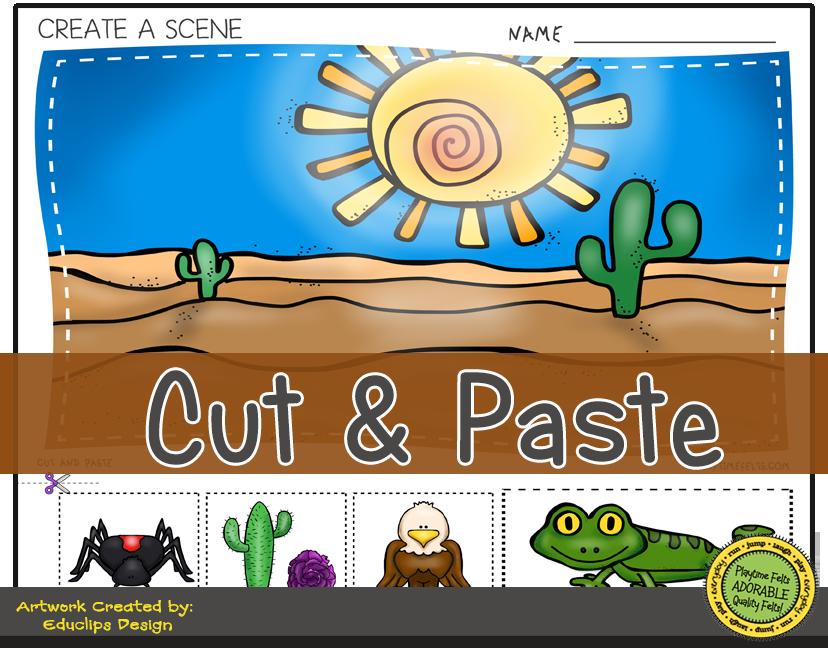 Desert Habitat PreK Digi Download Preschool activities