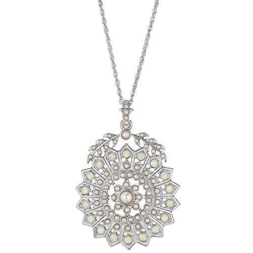 Starburst + Seed Pearl Long Pendant from the Duchess collection, Chloe + Isabel