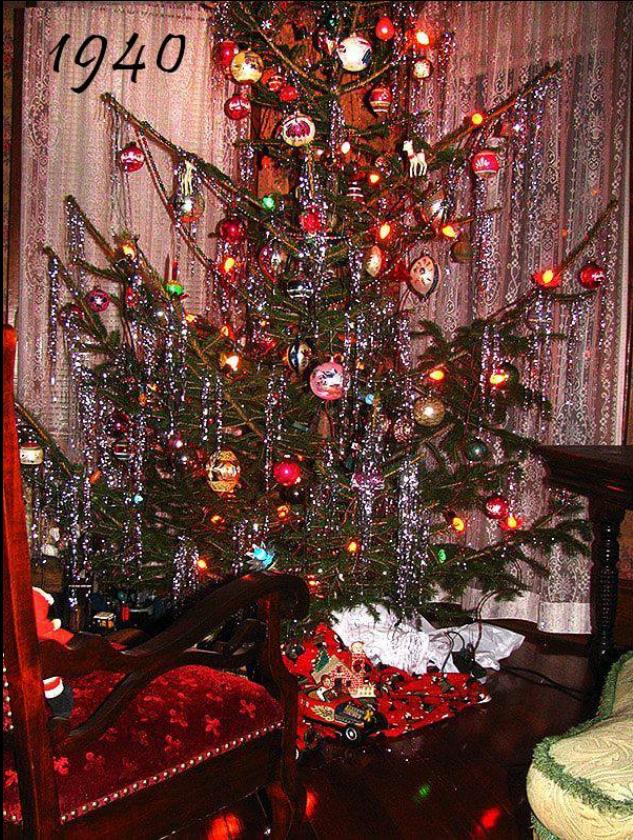 vintage 1940s christmas tree