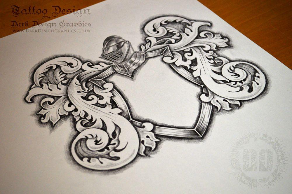 Classic Coat of Arms Template Crest tattoo, Tattoo