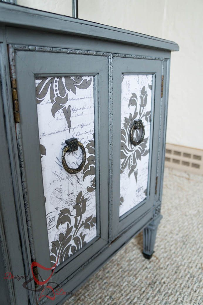French Decoupage Cabinet