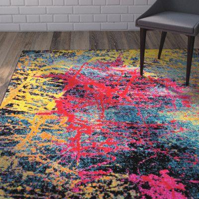 Ebern Designs Denita Abstract Multicolored Area Rug Area Rugs Rugs Unique Rugs